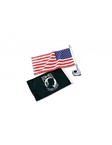 Chromovaný držák vlajky