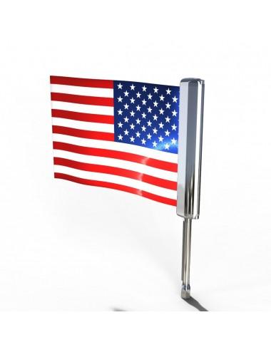 Držák vlajky s LED...